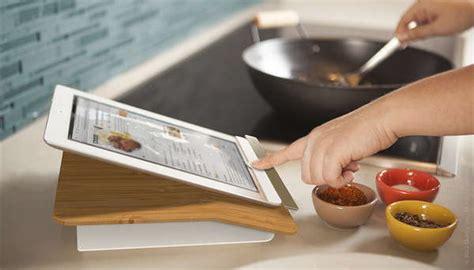 kitchen ready tablet docks prep step ipad stand