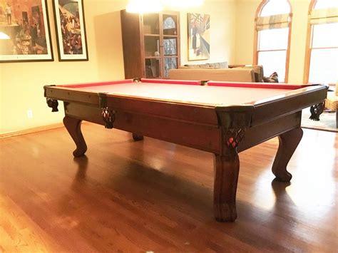 brunswick 8 pool table brunswick billiards chateau 8 39 pool table used pool