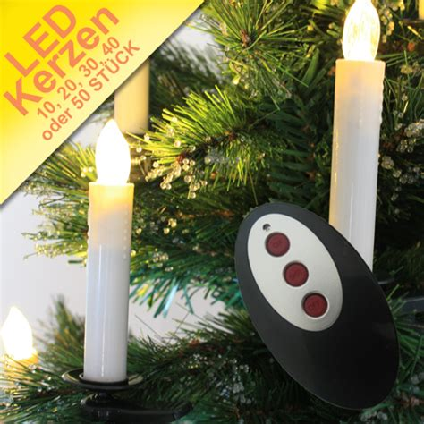 led kerzen kabellos weihnachtskerzen funk lichterkette