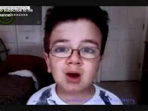 Weird Kid Singing On YouTube