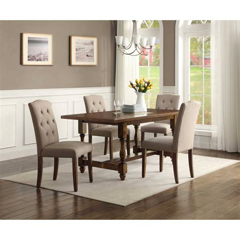 whitesburg 5 dining table set in brown white by room sets image rustic