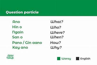Hiligaynon Phrases Waray Learn Language Should Tacloban