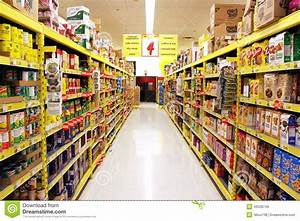 Grocery, Store, Shelves, Editorial, Stock, Image