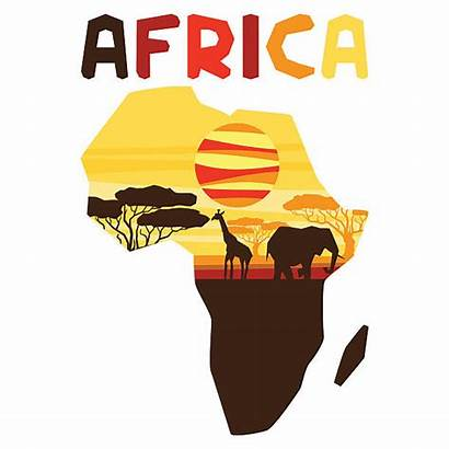 African Map Vector Background Illustration Africa Continent