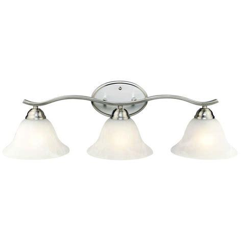 hton bay vanity light hton bay 3 light brushed nickel bath vanity 705075 at