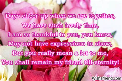 Short Poems About Friendship