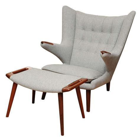 hans wegner papa chair and ottoman at 1stdibs