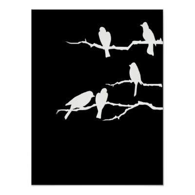 white bird silhouette poster zazzlecom bird