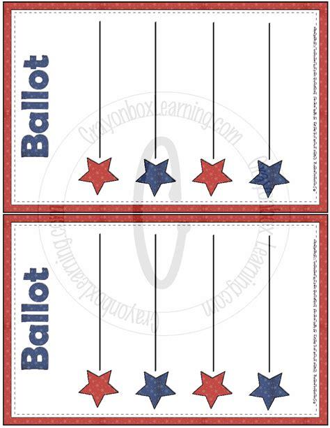 ballot template blank ballot template free large images pinteres