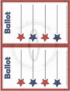 blank ballot template free large images pinteres With free voting ballot template