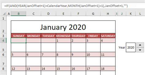 calendar template  excel easy excel tutorial