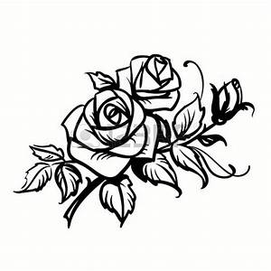 Drawing Outlines Roses | Clipart Panda - Free Clipart Images