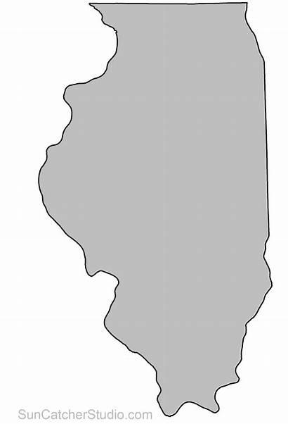 Printable Outline Florida State Illinois Stencil Clipart