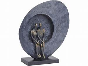 abstract couple sitting sculpture loving couple ornament