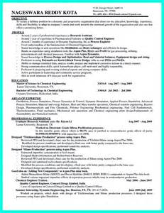 Manufacturing Engineer Resume Objective by Awesome Successful Objectives In Chemical Engineering Resume Resume Template