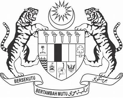 Jata Negara Malaysia Putih Hitam Dan