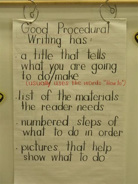 procedural writing ms sinclair s grade one two procedural writing