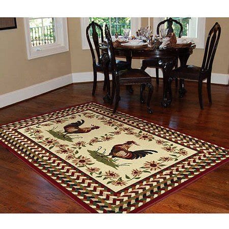 country kitchen rugs orian country rooster area r walmart 3624