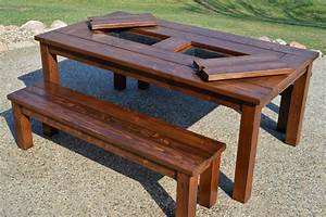 Building Plans: Patio Table with Built-in Drink Coolers