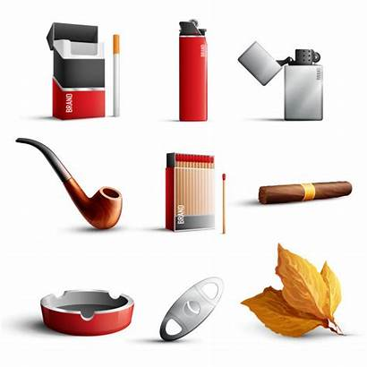 Tobacco Vector Realistic Freepik Icons