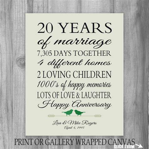 20th anniversary gift 20th anniversary gift 20 year anniversary by printsbychristine