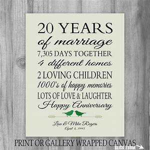 20th anniversary gift 20 year anniversary by printsbychristine With 20 wedding anniversary gifts