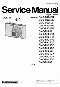 Panasonic Lumix Dmc Fh24 Fh25 Fs35 Digital Camera Service