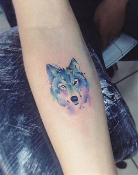 small watercolor wolf tattoo animal tattoos watercolor