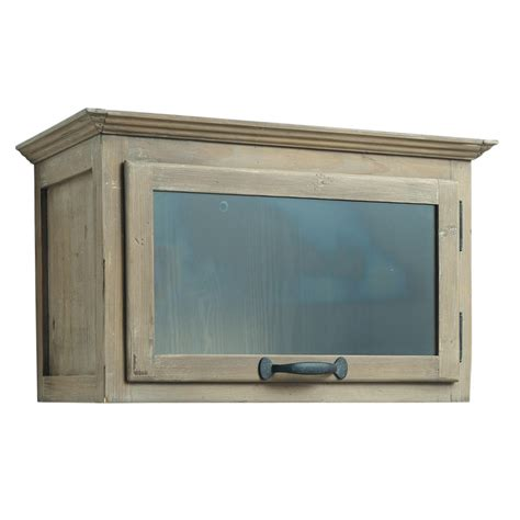 meuble vitré cuisine meuble haut de cuisine ouverture gauche en bois recyclé l