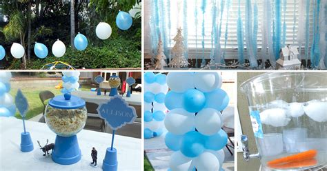 table decorations for birthday dinner disney frozen decoration ideas two