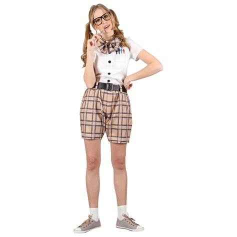 Ladies Funny High School Nerd Swot Bookworm Halloween Party Fancy Dress Costume | eBay