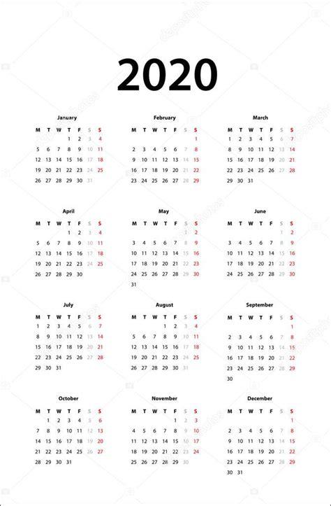 calendar  simple calendar template  stock vector  hanohiki