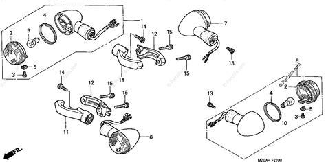 Honda Motorcycle Oem Parts Diagram For Front Rear