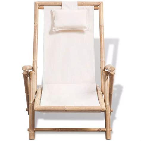 sedie da esterno in legno vidaxl sedia da esterno in legno di bamb 249 vidaxl it