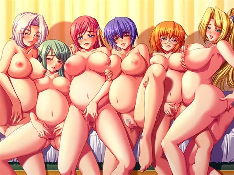 Rule 34 6girls Areolae Bed Belly Blonde Hair Blue Hair Breast Press Breasts Censored Character