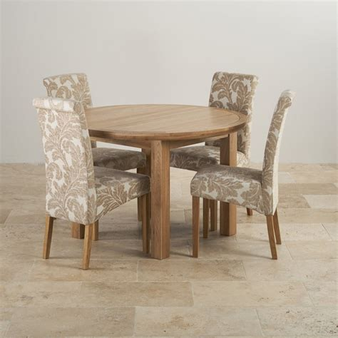 knightsbridge oak dining set extending table 4