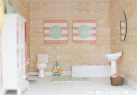 Diy Dollhouse Master Bedroom, Sewing Nook, Bathroom