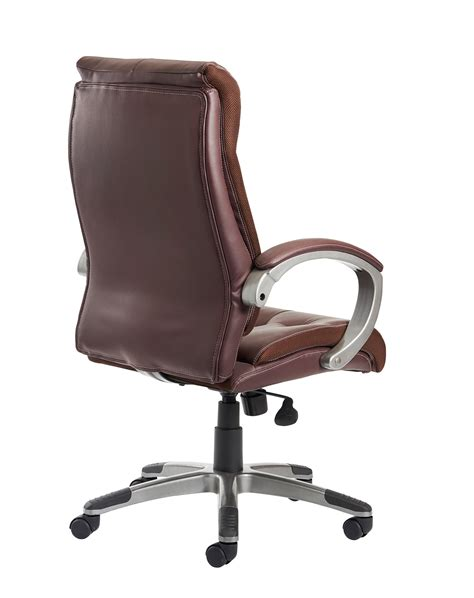 cantania brown leather faced managers chair office
