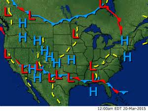 National Weather Map with Fronts