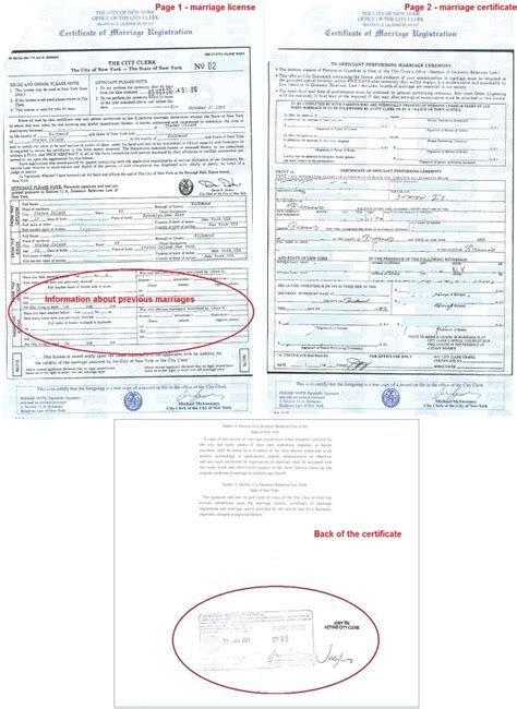 york marriage certificates  foreign