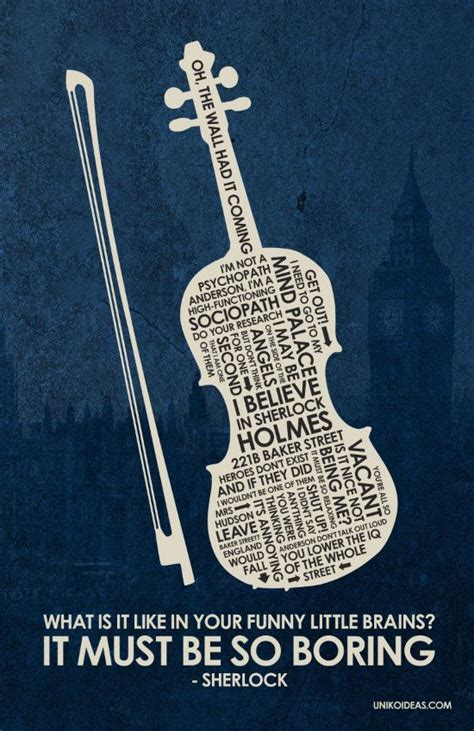 sherlock holmes quotes bbc quote poster funny violin watson series must brains boring inspiring posters etsy movie sad benedict quotesgram