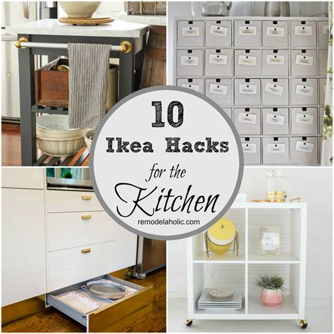 remodelaholic 10 ingenious ikea hacks for the kitchen