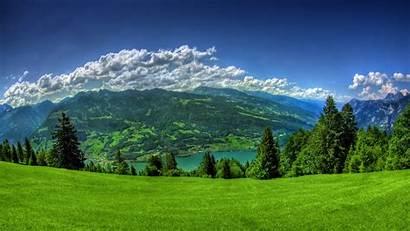 Nature Landscape Lake Grass Clouds Desktop Backgrounds