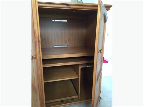 Used Computer Armoire by Broyhill Computer Armoire Richmond Vancouver