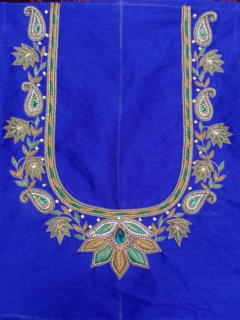 indian traditional handloom sarees maggam work blouse