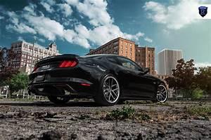 Rohana RC9 Custom Wheels on a Black Ford Mustang GT — CARiD.com Gallery
