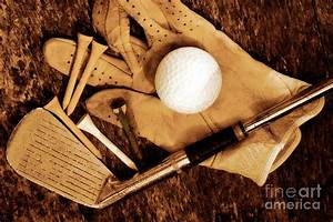 Old Golf Days Photograph by Charline Xia