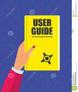 User Guide Handbook Stock Vector  Illustration Of Book