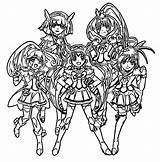 Glitter Force Coloring Pages Sheets Drawing Colouring Printable Precure Lucky Kelsey Candy Characters Template Print Smile Printables Popular Wecoloringpage sketch template