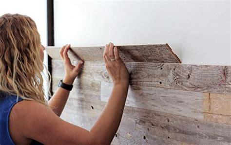 reclaimed barn wood wall panel easy peel  stick